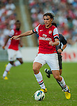Ignasi Miquel of Arsenal FC in action during the pre-season Asian Tour friendly match against Kitchee FC at the Hong Kong Stadium on July 29, 2012. Photo by Victor Fraile / The Power of Sport Images