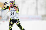 MARTELL-VAL MARTELLO, ITALY - FEBRUARY 02: LAZZAROTTO Juliette (FRA) during the Women 7.5 km Sprint at the IBU Cup Biathlon 6 on February 02, 2013 in Martell-Val Martello, Italy. (Photo by Dirk Markgraf)