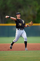 Pittsburgh Pirates Eric Wood (78) during a minor league Spring Training intrasquad game on April 3, 2016 at Pirate City in Bradenton, Florida.  (Mike Janes/Four Seam Images)