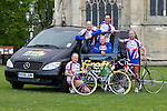 Pix: Shaun Flannery/shaunflanneryphotography.com..COPYRIGHT PICTURE>>SHAUN FLANNERY>01302-570814>>07778315553>>..12th May 2010...........Members of Doncaster Wheelers cycle club prepare for a gruelling 5 day cycle ride in aid of the Firefly cancer support charity and Doncaster Minster charities. Averaging over 100 miles each day the team will cycle through 5 countries, setting off from Doncaster, England, through Wales to Southern Ireland on to Northern Ireland then catching a ferry to Scotland before returning to Doncaster 5 day's later..L-R Paul Staton, Harvey Williams, Steve Maltby, Ian Furniss, Martin Maltby.