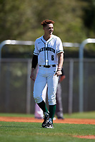 Dartmouth Big Green left fielder Dustin Shirley (6) during a game against the Villanova Wildcats on March 3, 2018 at North Charlotte Regional Park in Port Charlotte, Florida.  Dartmouth defeated Villanova 12-7.  (Mike Janes/Four Seam Images)