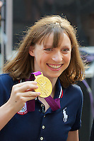NEW YORK,NY - AUGUST 13: US Olympic Gold Medalist Katie Ledecky on NBC's Today  at Rockefeller Center in New York City. August 13, 2012. Credit:  mpi44/MediaPunch Inc.