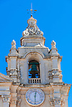 Clock tower section of St. Paul's Co-Cathedral, Mdina, Malta