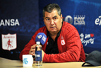 BOGOTA - COLOMBIA - 18 – 01 – 2018: Jorge Da Silva, tecnico de America de Cali, durante rueda de prensa del Torneo Fox Sports 2018, en el estadio Nemesio Camacho El Campin de la ciudad de Bogota. /  Jorge Da Silva, coach of America de Cali, during a press conference at the Fox Sports 2018 Tournament, at the Nemesio Camacho El Campin stadium in the city of Bogota. Photo: VizzorImage / Luis Ramirez / Staff.