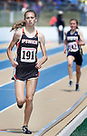 RAPID CITY, SD - MAY 30: Macy Heinz #191 of Ipswich leads the class B girls 1600 meter run during the 2015 SDHSAA State Track & Field Meet Saturday at O'Harra Stadium in Rapid City, S.D. (Photo by Dick Carlson/Inertia)