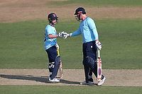 Adam Wheater and Simon Harmer in batting action for Essex during Hampshire Hawks vs Essex Eagles, Royal London One-Day Cup Cricket at The Ageas Bowl on 22nd July 2021