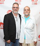 Lou Moreno and Eduardo Machado attends the 2019 Off Broadway Alliance Awards Reception at Sardi's on June 18, 2019 in New York City.