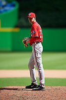 Washington Nationals pitcher Chandler Day (35) gets ready to deliver a pitch during a Florida Instructional League game against the Miami Marlins on September 26, 2018 at the Marlins Park in Miami, Florida.  (Mike Janes/Four Seam Images)