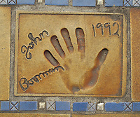 Hand print of the film director, John Boorman, outside the Palais des Festivals et des Congres, Cannes, France.
