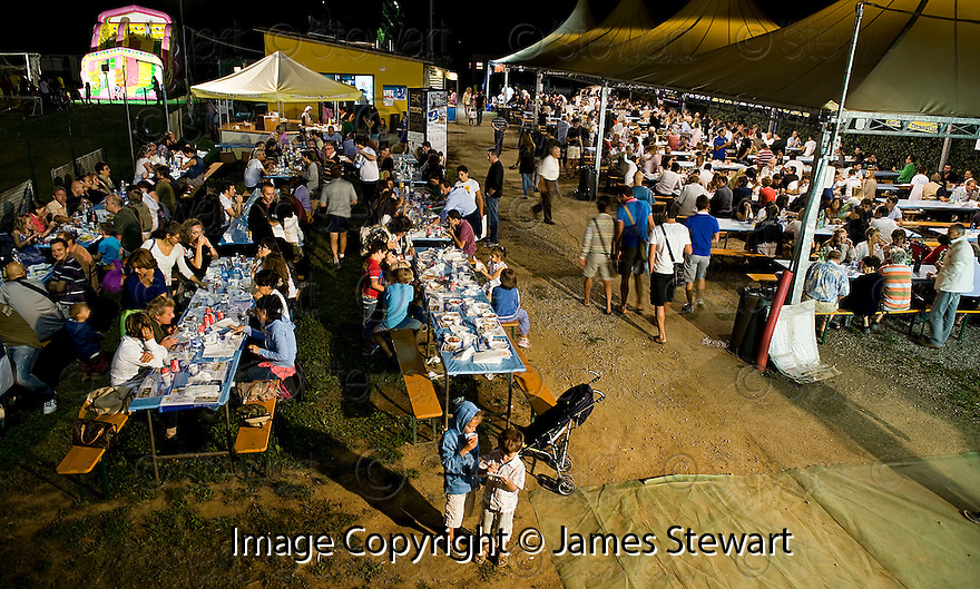 """SAGRA DEL """"PESCE E PATATE"""" 2011, BARGA, ITALY<br /> <br /> FISH, CHIPS AND FUN LATE INTO THE EVENING."""