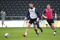 20th March 2021; Liberty Stadium, Swansea, Glamorgan, Wales; English Football League Championship Football, Swansea City versus Cardiff City; Conor Hourihane of Swansea City passes the ball during warm up