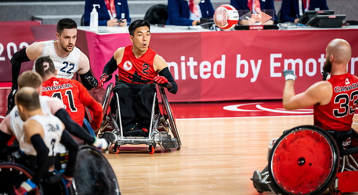Travis Murao, Tokyo 2020 - Wheelchair Rugby // Rugby en fauteuil roulant<br /> Canada takes on Great Britain in the preliminary round // Le Canada affronte la Grande-Bretagne au tour préliminaire. 25/08/2021.