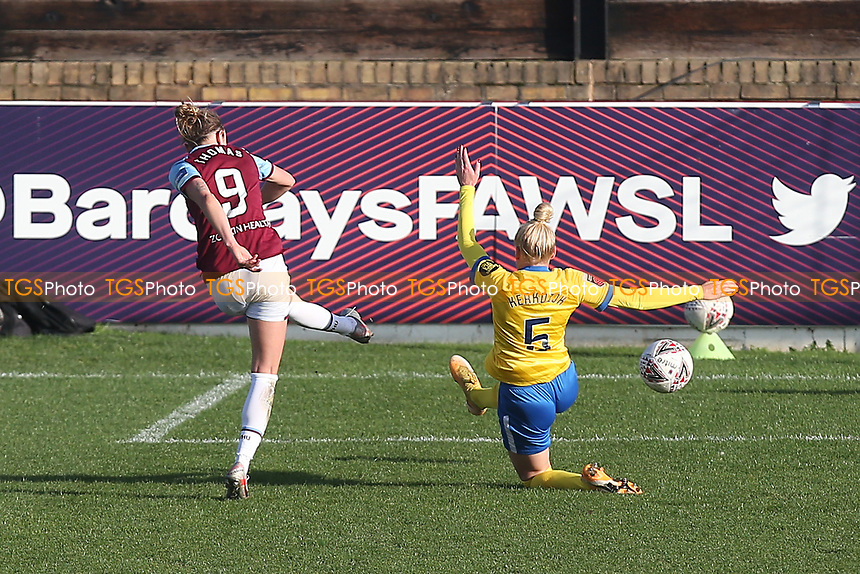 Martha Thomas of West Ham goes close during West Ham United Women vs Brighton & Hove Albion Women, Barclays FA Women's Super League Football at the Chigwell Construction Stadium on 15th November 2020