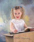 Interlitho, Alberto, CHILDREN, photos, blond girl, desk(KL15652,#K#) Kinder, niños