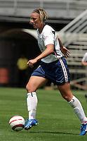 Abby Wambach.US Women's National Team vs Brazil at Legion Field in Birmingham, Alabama.