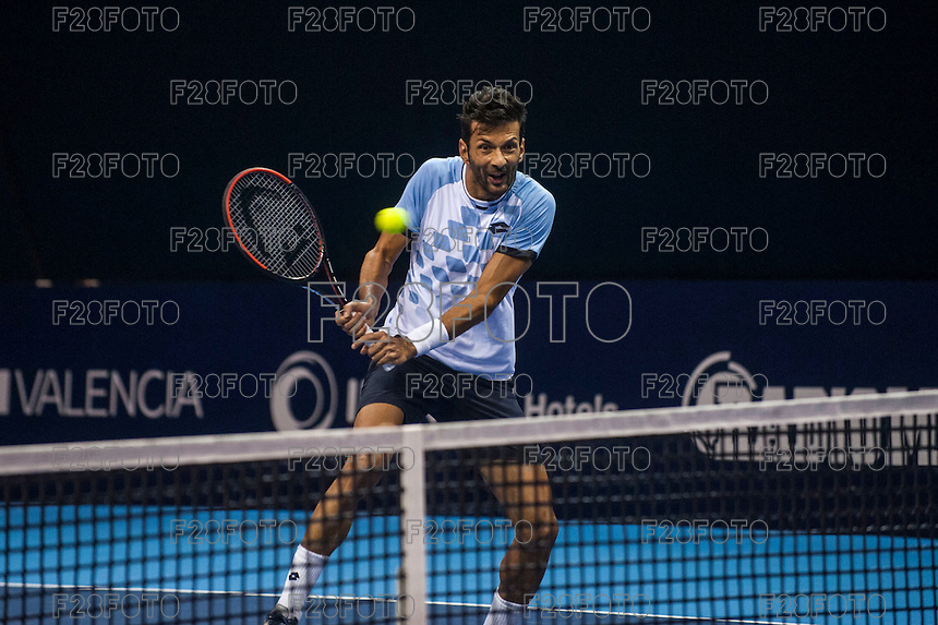VALENCIA, SPAIN - OCTOBER 28: Julian Knowle during Valencia Open Tennis 2015 on October 28, 2015 in Valencia , Spain