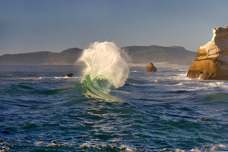 Waves at Cape Kiwanda. Oregon