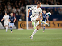 CARSON, CA - MARCH 07: Nick DePuy #20 of the Los Angeles Galaxy moves with the ball during a game between Vancouver Whitecaps and Los Angeles Galaxy at Dignity Health Sports Park on March 07, 2020 in Carson, California.