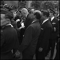Le Lot. 17 Mai 1962. Vue du Général de Gaulle dans la foule.
