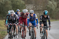 former winners of the race Michal Kwiatkowski (POL/SKY) & Zdenek Stybar (CZE/QuickStep Floors) set the pace in the front of this elite group (of race leaders)<br /> <br /> 11th Strade Bianche 2017