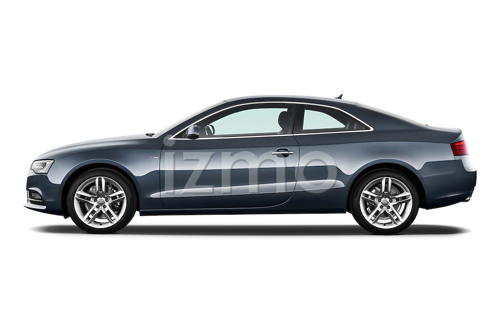 Driver side profile view of a 2012 Audi A5 S Line Coupe.