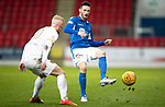 St Johnstone v Livingston…..07.03.20   McDiarmid Park  SPFL<br />Scott Tanser and Craig Sibbald<br />Picture by Graeme Hart.<br />Copyright Perthshire Picture Agency<br />Tel: 01738 623350  Mobile: 07990 594431