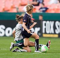 Carolyn Blank, Sonia Bompastor. The Washington Freedom defeated the Saint Louis Athletica, 3-1.