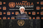 Opening Plenary Meeting of the Nelson Mandela Peace Summit<br /> <br /> His Excellency Hassan ROUHANIPresident of the Islamic Republic of Iran