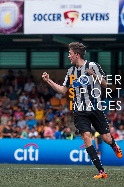 Newcastle United vs Hong Kong Football Club during the Day 2 of the HKFC Citibank Soccer Sevens 2014 on May 24, 2014 at the Hong Kong Football Club in Hong Kong, China. Photo by Xaume Olleros / Power Sport Images