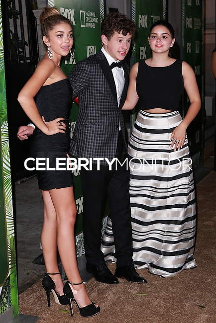 LOS ANGELES, CA, USA - AUGUST 25: Sarah Hyland, Nolan Gould, Ariel Winter at the FOX, 20th Century FOX Television, FX Networks And National Geographic Channel's 2014 Emmy Award Nominee Celebration held at Vibiana on August 25, 2014 in Los Angeles, California, United States. (Photo by David Acosta/Celebrity Monitor)