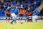 St Johnstone v Dundee United...09.05.15   SPFL<br /> Dave Mackay misses from the penalty spot<br /> Picture by Graeme Hart.<br /> Copyright Perthshire Picture Agency<br /> Tel: 01738 623350  Mobile: 07990 594431