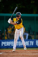 Dominic Hellman (8) during the WWBA World Championship at Terry Park on October 11, 2020 in Fort Myers, Florida.  Dominic Hellman, a resident of Mill Creek, Washington who attends Henry M. Jackson High School, is committed to Oregon.  (Mike Janes/Four Seam Images)