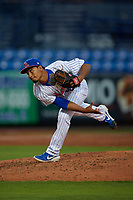 St. Lucie Mets relief pitcher Yeizo Campos (40) during a Florida State League game against the Florida Fire Frogs on April 12, 2019 at First Data Field in St. Lucie, Florida.  Florida defeated St. Lucie 10-7.  (Mike Janes/Four Seam Images)