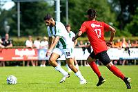 LEEK - Voetbal, Pelikaan S - FC Groningen , voorbereiding seizoen 2021-2022, oefenduel, 03-07-2021,  FC Groningen speler Ahmed El Messaoudi legt aan voor een schot