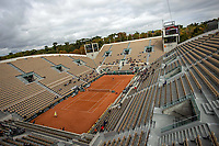 30th September 2020, Roland Garros, Paris, France; French Open tennis, Roland Garr2020; Ambiance during the match between Stan WAWRINKA SUI and Dominik KOEPFER GER in the Suzanne Lenglen court on the second round of the French Open