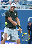 August 29,2019:   Antoine Hoang (FRA) loses to Nick Kyrgios (AUS) 6-4, 6-2, at the US Open being played at Billie Jean King National Tennis Center in Flushing, Queens, NY.  ©Jo Becktold/CSM