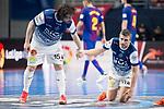 R. Renov. Zaragoza Fernando Modrego and Carlos Retamar during Futsal Spanish Cup 2018 at Wizink Center in Madrid , Spain. March 16, 2018. (ALTERPHOTOS/Borja B.Hojas)