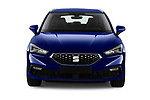 Car photography straight front view of a 2020 Seat Leon Xcellence 5 Door Wagon Front View