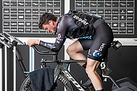 Nico Denz (DEU/DSM) warming up<br /> <br /> 104th Giro d'Italia 2021 (2.UWT)<br /> Stage 21 (final ITT) from Senago to Milan (30.3km)<br /> <br /> ©kramon