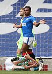 02.05.2121 Rangers v Celtic: Alfredo Morelos and Kris Ajer