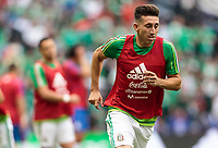 Mexico City, Mexico - Sunday June 11, 2017: Héctor Herreran during a 2018 FIFA World Cup Qualifying Final Round match with both men's national teams of the United States (USA) and Mexico (MEX) playing to a 1-1 draw at Azteca Stadium.