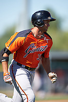 San Francisco Giants Gio Brusa (39) during an Instructional League game against the Los Angeles Angels of Anaheim on October 13, 2016 at the Tempe Diablo Stadium Complex in Tempe, Arizona.  (Mike Janes/Four Seam Images)