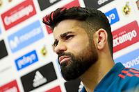 Spain's Diego Costa in press conference after training session. March 21,2018.(ALTERPHOTOS/Acero) /NortePhoto.com NORTEPHOTOMEXICO