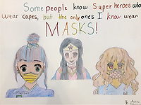 """Superheroes Wear Masks"" Drawing by Isabella Bajgierowicz"