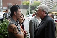 Montreal (QC) CANADA, October 3rd 2007 -<br /> Gilles Duceppe, leader of the Bloc Quebecois (R) at the at the<br /> Launch of Montreal Designer Dinh Ba, at his boutique on Amherst street in Montreal.<br /> <br /> <br /> photo : (c) ¨Pierre Roussel -  images Distribution
