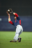 Cayman Richardson (9) of Hanover High School in Mechanicsville, Virginia playing for the Cleveland Indians scout team during the East Coast Pro Showcase on July 28, 2015 at George M. Steinbrenner Field in Tampa, Florida.  (Mike Janes/Four Seam Images)