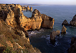 Europe, PRT, Portugal, Algarve, Lagos, Natural monument Ponta da Piedade, Rocky coast