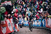 Felix Grossschartner (AUT/BORA-hansgrohe) up the infamous Monte Zoncolan (1735m/11%/10km)<br /> <br /> stage 14 San Vito al Tagliamento – Monte Zoncolan (186 km)<br /> 101th Giro d'Italia 2018