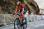 Mikel Landa (ESP) Bahrain McLaren climbs the Col de Peyresourde in front during Stage 8 of Tour de France 2020, running 141km from Cazeres-sur-Garonne to Loudenvielle, France. 5th September 2020. <br /> Picture: Colin Flockton | Cyclefile<br /> All photos usage must carry mandatory copyright credit (© Cyclefile | Colin Flockton)