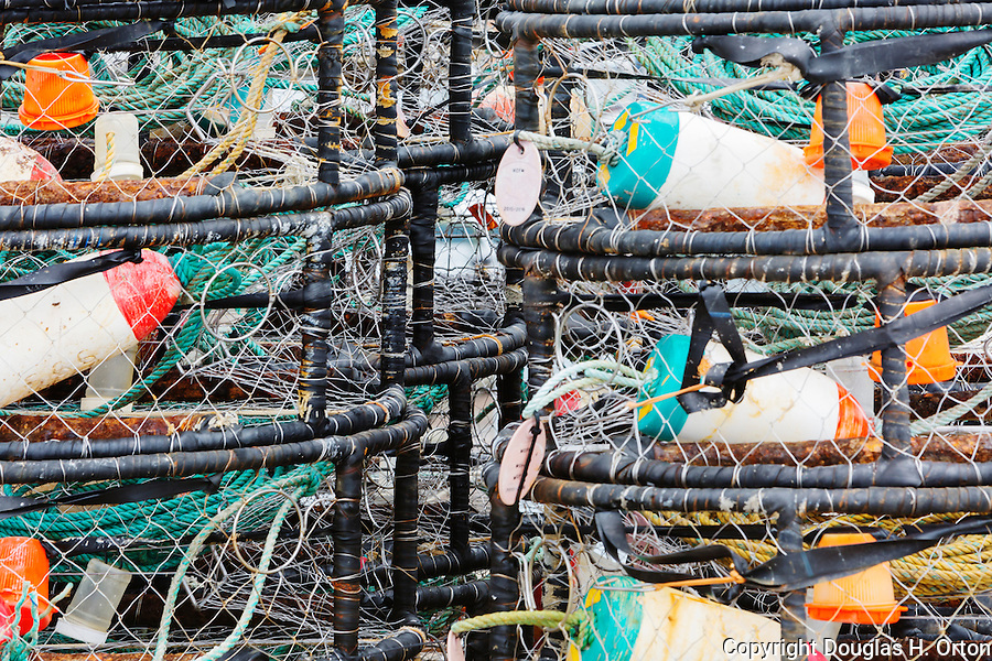 Commercial Crab Pots on Dock.